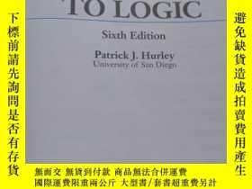 二手書博民逛書店A罕見CONCISE INTRODUCTION TO LOGIC Sixth EditionY223356 P