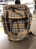 ■現貨在台■專櫃57折■Burberry Vintage 男款大款格紋尼龍後背包
