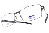 MIZUNO 美津濃 光學眼鏡 MF1415 C24 (槍) 簡約百搭方框款 β鈦眼鏡 # 金橘眼鏡