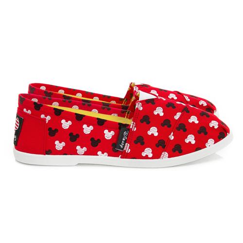 DISNEY 可愛滿點 滿版米奇印刷懶人鞋-紅(DW3607)