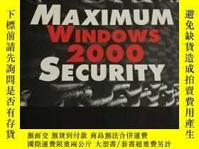 二手書博民逛書店Maximum罕見Windows 2000 SecurityY2