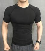 運動緊身衣彈力健身男速干教練跑步訓練短袖 【萬聖夜來臨】