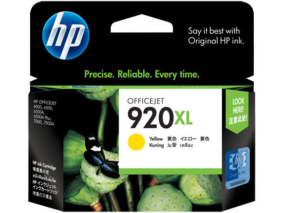 [奇奇文具]【HP 墨水匣】CD974AA/NO.920XL 原廠黃色墨水匣