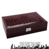 歐式木質首飾盒 韓國公主手飾品化妝盒 簡約帶鎖珠寶手飾品收納盒【潮咖地帶】