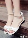 女童涼鞋童鞋露趾軟底公主鞋