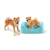 Schleich 史萊奇動物模型- 柴犬狗狗組
