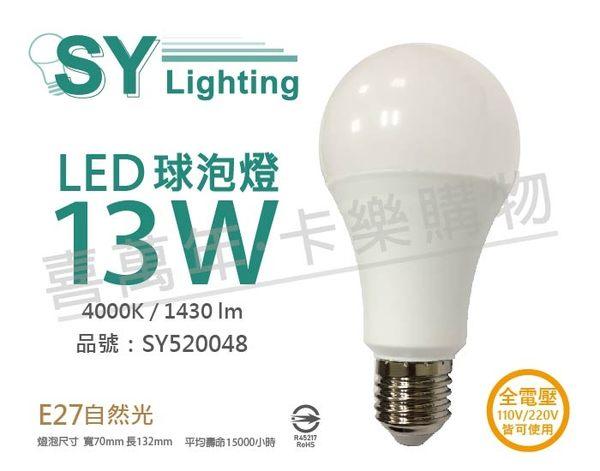 SYLVANIA 65405TW LED 13W 4000K E27 自然光 全電壓 球泡燈_SY520048