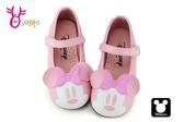 米妮娃娃鞋 迪士尼 中小童大頭米妮休閒鞋 C2439#粉紅◆OSOME奧森童鞋