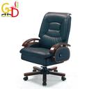 【GD綠設家】米斯亞 時尚黑牛皮多功能辦公椅/主管椅