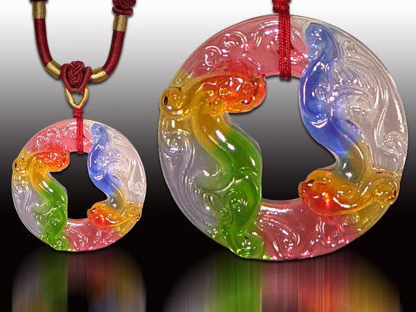 鹿港窯~居家開運水晶琉璃項鍊~螭琥 附精美包裝◆免運費送到家