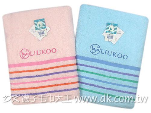 LK910煙斗夢彩條浴巾 ~DK襪子毛巾大王