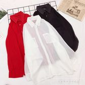 防曬衣女夏季韓版泰國沙灘海邊防曬衫短款雪紡衫外搭開衫薄款外套『韓女王』