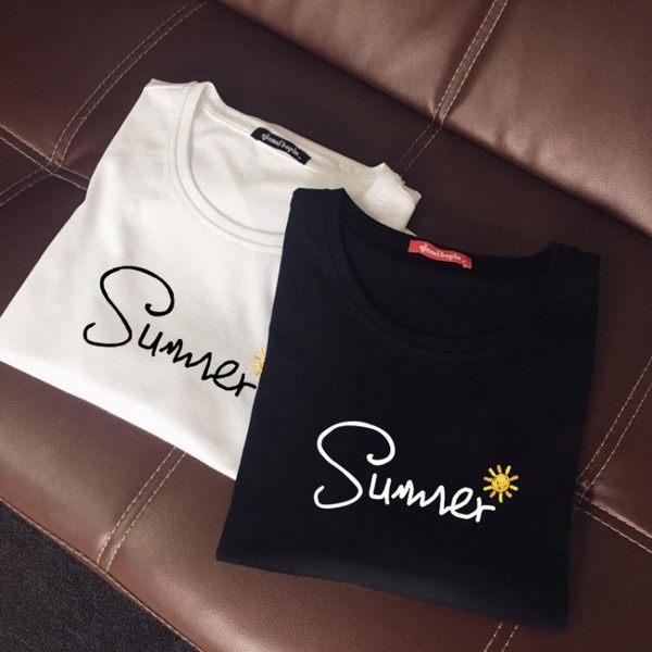 親子裝夏裝短袖潮全家裝母女母子裝新款一家三口春裝親子t恤 【korea時尚記】