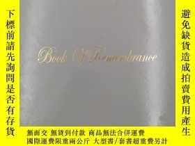 二手書博民逛書店Book罕見of Remembrance 回憶之書Y19139