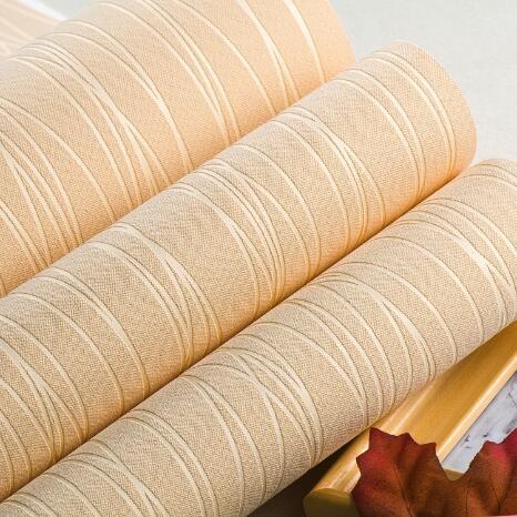 無紡布牆紙壁紙 臥室客廳簡約 純色 素色 條紋 背景牆 月光-森林 電購3C