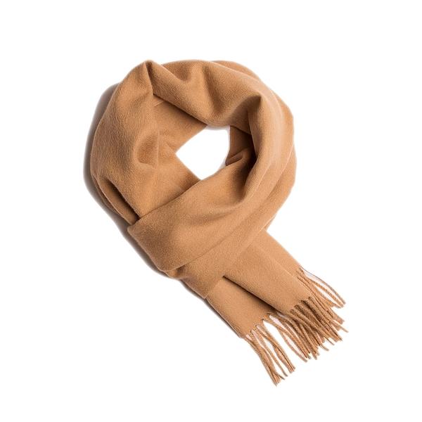 Alpaka Scarf Exclusive 100% 30x200cm 極致系列 素面單色 羊駝毛 超輕量 圍巾(駝色黃昏)