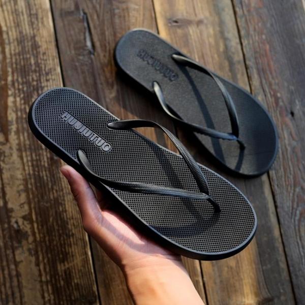 人字拖男夏季情侶防滑沙灘鞋外穿潮男個性休閒 鞋夾腳室外 拖鞋