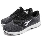 DIADORA 慢跑鞋 灰 白 飛織輕跑鞋 高透氣鞋面 寬楦頭 基本款 運動鞋 男鞋【PUMP306】 DA8AMR6728
