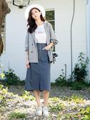 早春上市[H2O]超顯瘦前面開衩鉛筆直筒中長裙 - 墨綠/藍/粉色 #0682006