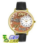 [美國直購 ] 手錶 Whimsical Watches Women s G0710015 Unisex Gold Faith Hope Love Joy Black Leather And Goldtone Watch $1894