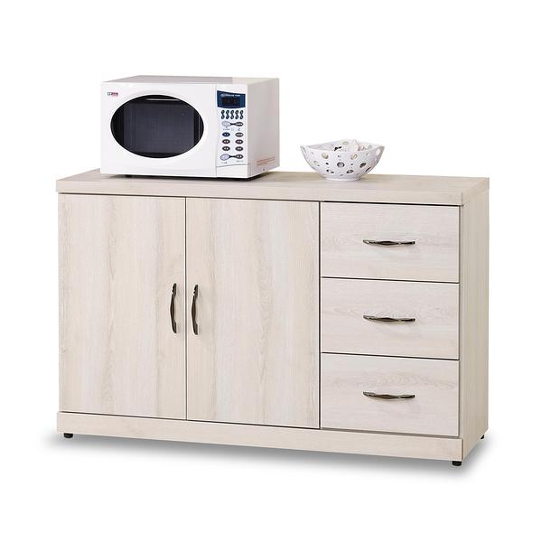 餐櫃【時尚屋】[G17]白栓木4尺碗盤櫃G17-A298-3免組裝/免運費/餐櫃