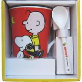 【波克貓哈日網】卡通造型杯組◇SNOOPY系列◇《馬克杯+湯匙》