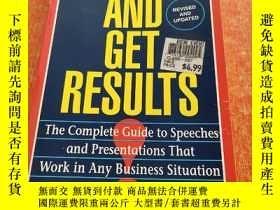 二手書博民逛書店Speak罕見and Get Results: Complete Guide to Speeches & Pres
