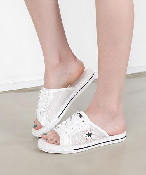 【2wenty6ix】正韓 Star Thorn 率性休閒 夏日藍調質感皮革 繫帶露趾半拖鞋 (兩色)