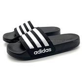 《7+1童鞋》ADIDAS G27625 輕量 防水 止滑 運動拖鞋 7417 黑色