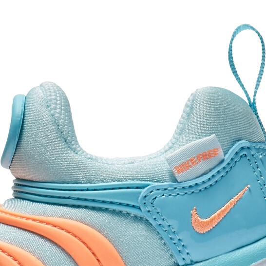 NIKE DYNAMO FREE 童鞋 小童 慢跑 休閒 毛毛蟲鞋 藍 橘【運動世界】343938-429