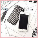 iphone7 plus 手機殼 格子紋 軟邊 蠶絲紋 iphone7 iphone6/6s plus 萌果殼