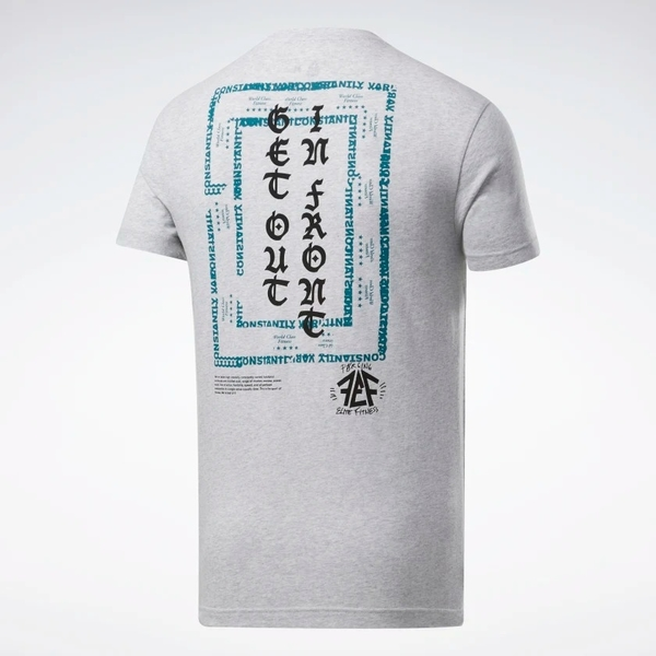 REEBOK CROSSFIT® GET OUT IN FRONT 男裝 短袖 慢跑 休閒 棉質 舒適 灰【運動世界】FK4329