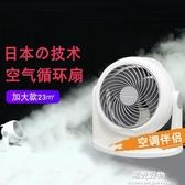 空氣循環扇愛麗思IRIS日本家用靜音空氣對流換氣台式渦輪電風扇 220V NMS陽光好物