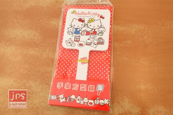 Hello Kitty 凱蒂貓 手拿方型鏡 雙胞胎 茶會 白 957212