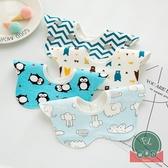 3條裝 寶寶圍兜圍嘴嬰兒口水巾新生兒童印花【聚可爱】