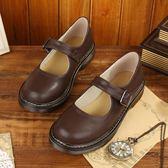 低筒皮鞋 新款文藝復古女鞋 平底森女 日系單鞋