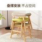 小凳子實木小凳子簡約加厚餐桌凳現代方凳家用布藝木凳時尚板凳矮凳餐凳YJT 快速出貨