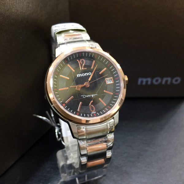 mono 個性玫瑰金黑面數字女錶x30mm黑玫瑰金・日期顯示・藍寶石水晶鏡面・公司貨・1192RG