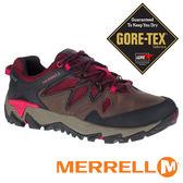 【MERRELL 美國 】ALL OUT BLAZE 2 女 GORE-TEX多功能健行鞋『咖啡/紅』09382 機能鞋│休閒鞋
