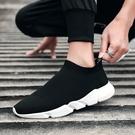 一腳蹬男鞋冬季新款保暖針織襪子鞋男士休閒鞋舒適懶人鞋子男潮鞋  科炫數位
