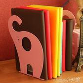 閱讀架 巨門書立大號創意桌面可愛動物造型金屬書夾書靠彩色閱讀架【小天使】