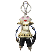 PRADA 普拉達 皮革金屬機器人造型鑰匙圈 Robot Keyhoulder 【二手名牌BRAND OFF】