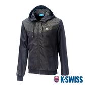 K-SWISS Camo Pannel Jacket印花風衣外套-男-迷彩/黑