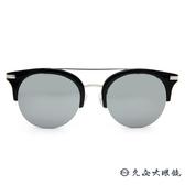 PAUL HUEMAN 韓流墨鏡 水銀 雙槓貓眼 太陽眼鏡 PHS1106A C05-1 黑-銀 久必大眼鏡