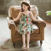 女童吊帶洋裝夏裝2018新款兒童夏季正韓洋氣公主裙子童裝中大童 萬聖節推薦