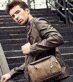 側背包 迪德男包單肩包男斜背包復古時尚挎包男士包包運動休閒小包男背包 新年禮物