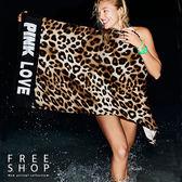 Free Shop 純棉蓬鬆夏日繽紛游泳海灘浴巾大浴巾毛巾沙灘巾 PINK柔軟速乾海灘巾南洋風【QAAMG7077】