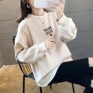 假兩件衛衣女潮ins春秋2020新款韓版寬鬆學生加絨加厚秋冬上衣服 黛尼時尚精品