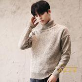 高領毛衣潮男裝高領毛衣男士韓版青年毛線衣套頭針織衫男學生線衫外套
