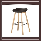 【多瓦娜】伊絲吧椅(黑)(實木) 21057-1075009
